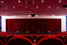 Passenger Cruise ship theater Royalty Free Stock Images