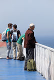 Passenger on deck of a ferry Stock Photos