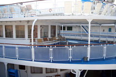 Passenger deck of the motorship. Which has moored to the central jetty, (look similar images in my portfolio Stock Photos