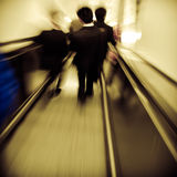 Passenger on elevator Royalty Free Stock Photography