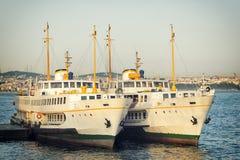 Passenger Ferries, Istanbul, Turkey Stock Image