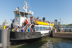 Passenger ferry boat MS Tor moored in Helsinki Royalty Free Stock Images