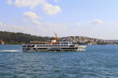 Passenger Ferry in Bosporus, Istanbul, Turkey. Stock Photo