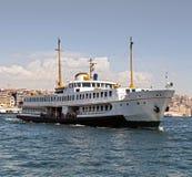 Passenger ferry in Bosporus, Istanbul, Turkey Royalty Free Stock Photo