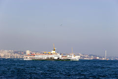 Passenger ferry in Bosporus Strait, Istanbul Royalty Free Stock Photography