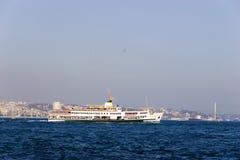 Passenger ferry in Bosporus Strait, Istanbul Royalty Free Stock Photography