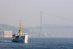 Passenger ferry in Bosporus Strait, Istanbul Stock Images
