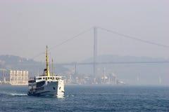 Passenger ferry in Bosporus Strait, Istanbul Stock Images
