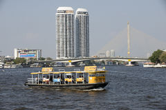 Passenger ferry on the Chao Phraya River in Bangkok Royalty Free Stock Image
