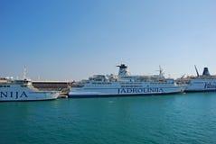 Passenger Ferry in Coastal City of Croatia Stock Photos