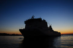 PASSENGER FERRY AT DAWN Royalty Free Stock Image