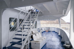 Passenger ferry deck Royalty Free Stock Photo