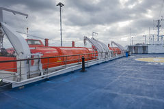 Passenger ferry deck Stock Photos