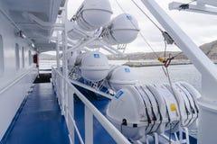 Passenger ferry deck Stock Image