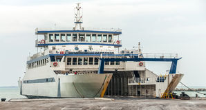 Passenger ferry docked Stock Image