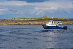 Passenger ferry at Doolin. Ireland Royalty Free Stock Images
