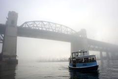Passenger ferry in the fog-  Vancouver, Canada Royalty Free Stock Photo