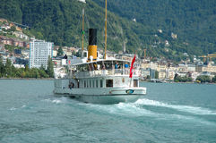 Passenger ferry on Geneve lake in Switzerland Stock Images