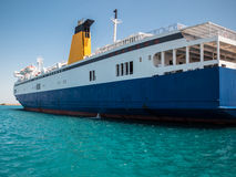 Passenger Ferry in Greek Port Royalty Free Stock Images