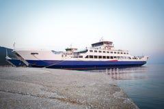 Passenger ferry in harbor Stock Photo