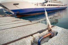 Passenger ferry in harbor Stock Photos