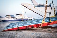 Passenger ferry in harbor Stock Images