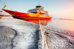 Passenger ferry in harbor Royalty Free Stock Photos