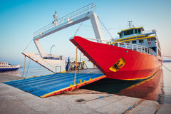 Passenger ferry in harbor Royalty Free Stock Image