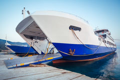 Passenger ferry in harbor Royalty Free Stock Photography