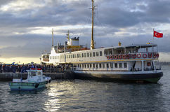 Passenger ferry in Istanbul Kadikoy pier Stock Images