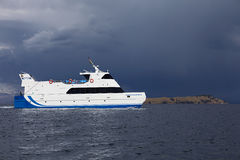 Passenger Ferry on Lake Titicaca in Bolivia Royalty Free Stock Images