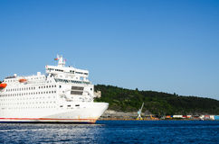 Passenger ferry leaving Oslo Stock Images