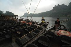 Passenger ferry-Mount Longhu, Yingtan, Jiangxi royalty free stock photo