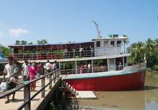 Passenger ferry in Mrauk U, Myanmar Royalty Free Stock Images