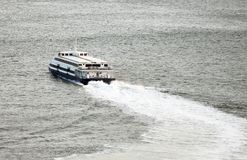 Passenger ferry. Passenger ferry sailing along the river Stock Photography