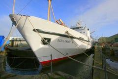 Passenger ferry in port Stock Image