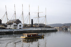 Passenger ferry and SS Great Britain steamship Bristol UK Stock Photos