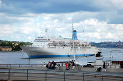 Passenger ferry in Stockholm Royalty Free Stock Photography