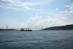 Passenger ferryboat in the middle of Bosphorus Strait Turkey. stock photography