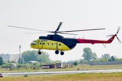 Passenger helicopter MI-8 landing Royalty Free Stock Image