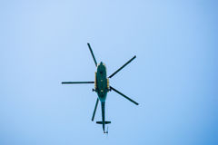 Passenger helicopter on sky. Stock Image