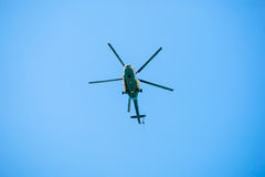 Passenger helicopter on sky. Royalty Free Stock Photos