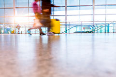 Passenger in high speed rail station Royalty Free Stock Photo