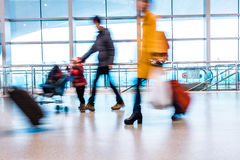 Passenger in high speed rail station Royalty Free Stock Images