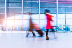 Passenger in high speed rail station Stock Image