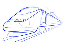 Passenger high-speed train. The pictures show a passenger express train Royalty Free Stock Photography