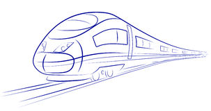 Passenger high-speed train Stock Images