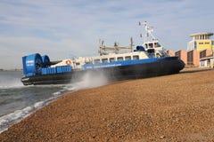 Passenger Hovercraft ashore Stock Image