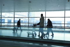 Passenger In The Airport Stock Images