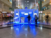 Passenger information at Dubai Inernational Airport Royalty Free Stock Photos